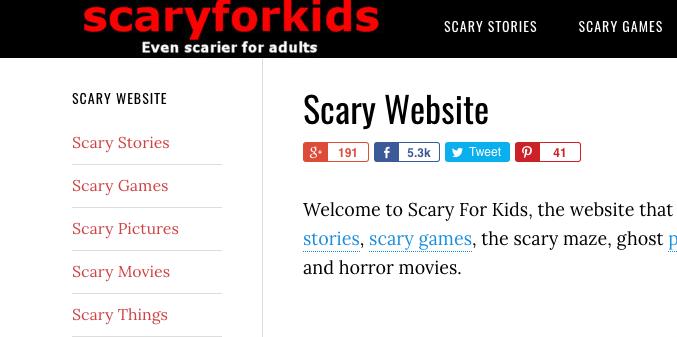 Scary for Kids - short horror stories