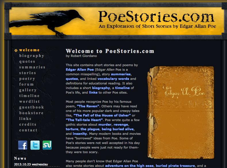 Poe Stories - short horror stories